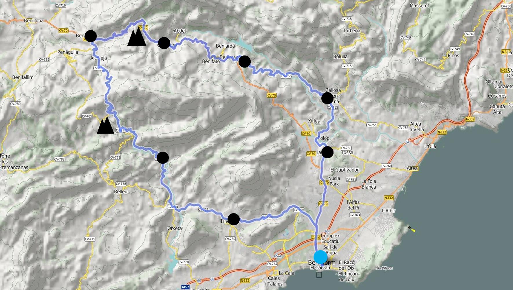 Rincon De Loix Mapa.Road Benidorm