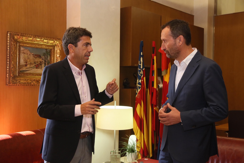Carlos Mazón reclama la implicación de la Generalitat en el futuro Centro de Congresos de Elche